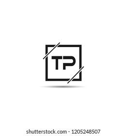 Initial Letter TP Logo Template Design