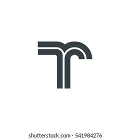 Initial Letter TR Linked Design Logo