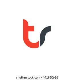 initial letter tr linked round lowercase logo red