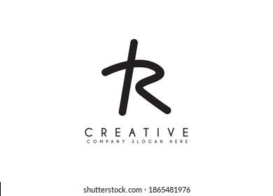 Initial letter TR logo design vector illustration. Letter TR Business logo design template element
