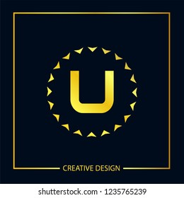 Initial Letter U Logo Template Vector Design
