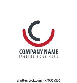 Initial Letter UC Design Logo