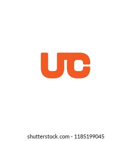 Initial Letter UC Linked, Rounded Logo Design