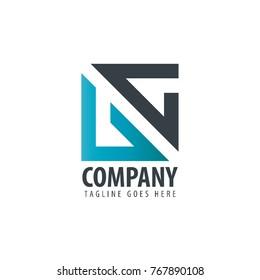Initial Letter UC VC Design Logo