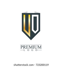 Initial Letter UO VO Company Design Logo Template