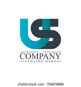 Initial Letter US Linked Design Logo
