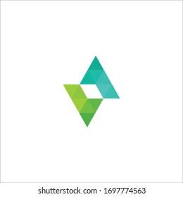 Initial letter va logo or av logo vector design template