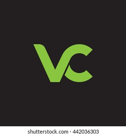 initial letter vc linked round lowercase logo green