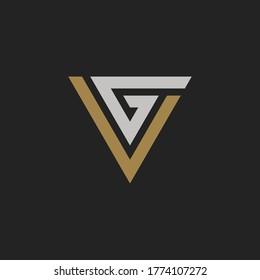 Initial Letter VG or GV Monogram Logo Template Design