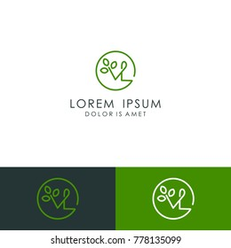 Initial letter VL logo template vector illustration