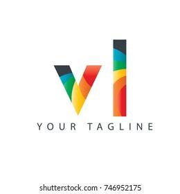 Initial Letter VL Rounded Design Logo