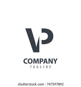 Initial Letter VP Design Logo