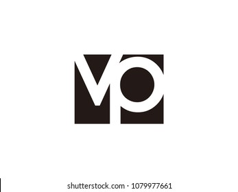 Initial letter vp lowercase logo black and white