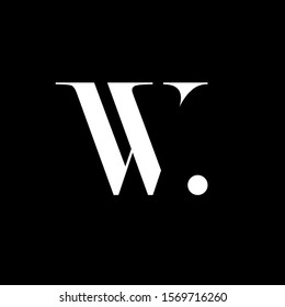 Initial letter vv vw w uppercase modern logo design template elements. White letter Isolated on black background. Suitable for business, consulting group company.
