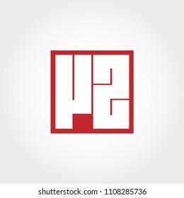 Initial Letter VZ Logo Vector Design