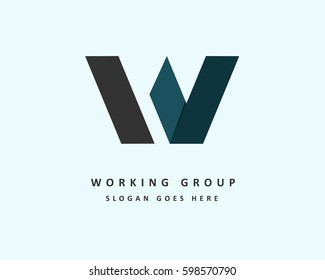 Initial letter W logo vector