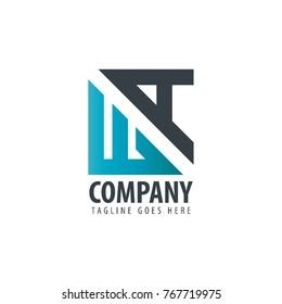 Initial Letter WA Design Logo