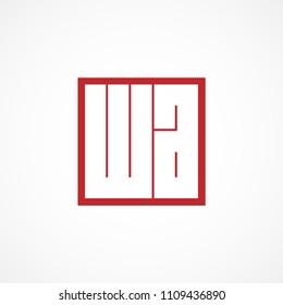 Initial Letter WA Logo Vector Design