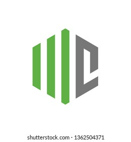 Initial Letter WC or MC, Vector Logo Design