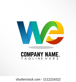 Initial letter we linked logo design with more color creative design