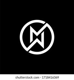 Initial letter wm logo or mw logo vector design templates