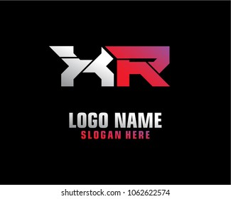 Initial letter X R logo template vector
