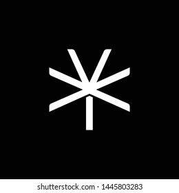 Initial letter X and Y, XY, YX, overlapping interlock monogram logo, white color on black background