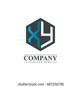 Initial Letter XY Hexagonal Design Logo