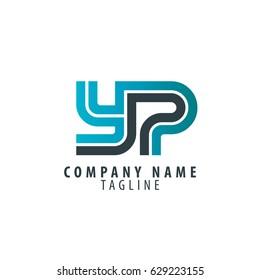 Initial Letter YP Linked Design Logo