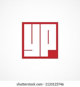 Initial Letter YP Logo Vector Design