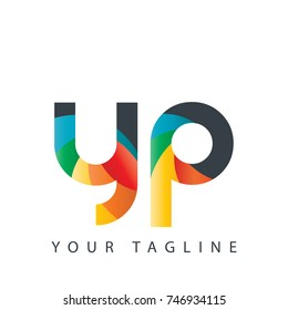 Initial Letter YP Rounded Design Logo