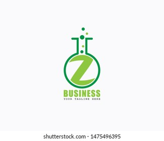 Initial letter Z alphabet Lab Laboratory logo design Awesome Vector illustration and icon