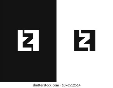 Initial letter Z and F logo template vector. Business icon for the company. Vector illustration for your design. Black white versions.