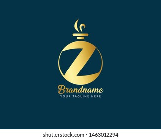 Initial letter Z Luxury premium flourish vector perfume and jewelry logo design, designed for women care, perfumery beauty spa cosmetic flower natural and more