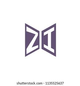 Initial Letter ZI Hexagonal Shape Logo Design