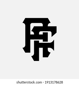 Initial letters A, F, AF or FA overlapping, interlock, monogram logo, black color on white background