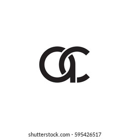 Initial letters ac round linked chain shape lowercase logo modern design monogram black