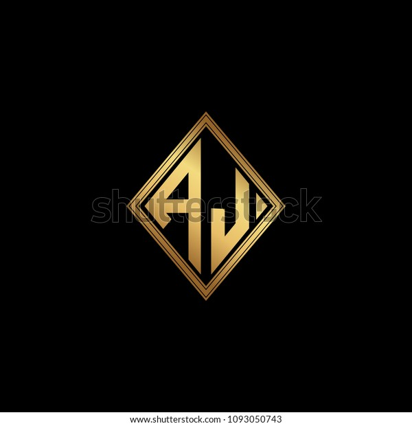 Initial Letters Al Diamond Shape Monogram Stock Vector Royalty Free 1093050743