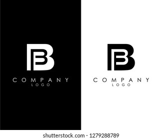 Initial Letters bb/b abstract company Logo Design vector