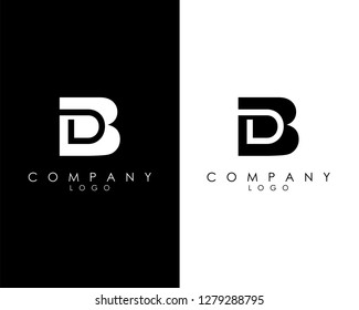 Initial Letters bd/db abstract company Logo Design vector