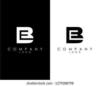 Initial Letters be/eb abstract company Logo Design vector