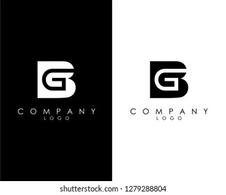 Initial Letters bg/gb abstract company Logo Design vector