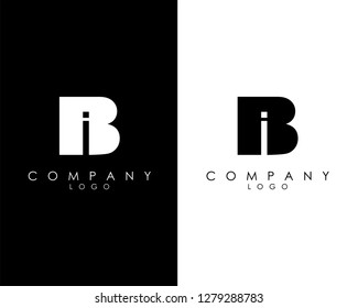 Initial Letters bi/ib abstract company Logo Design vector