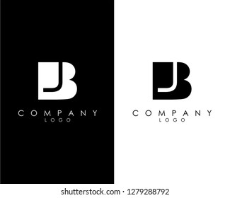 Initial Letters bj/jb abstract company Logo Design vector