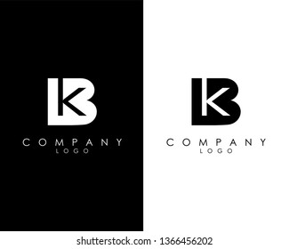 Initial Letters bk/kb abstract company Logo Design vector