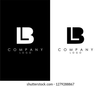 Initial Letters bl/lb abstract company Logo Design vector