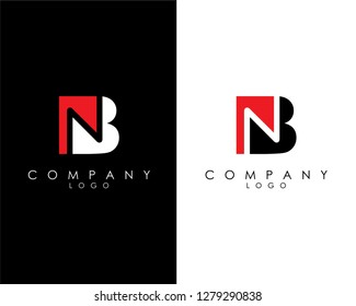 Initial Letters bn/nb abstract company Logo Design vector