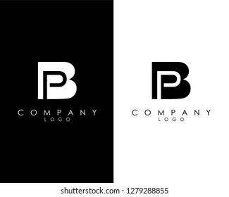 Initial Letters bp/pb abstract company Logo Design vector