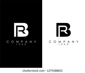 Initial Letters br/rb abstract company Logo Design vector