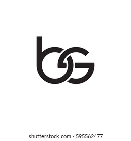 Initial letters bs, round linked chain shape lowercase logo modern design monogram black